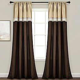 Lush Décor Terra 84-Inch Rod Pocket Window Curtain Panels (Set of 2)