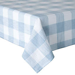 Bee & Willow™ Home Textured Check Oblong Tablecloth in Black/White