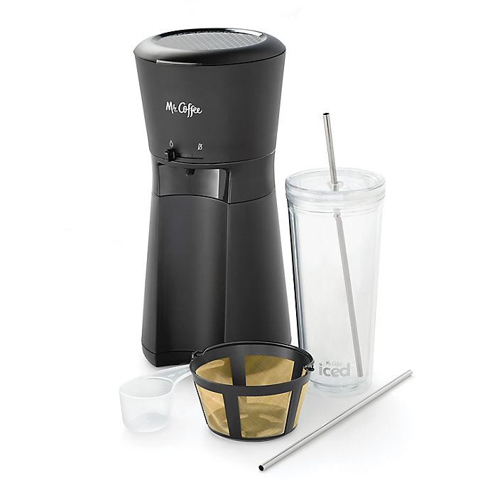 Alternate image 1 for Mr. Coffee® Iced™ Coffee Maker and Filter in Black