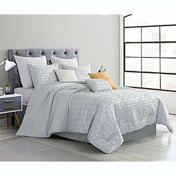 Haldis Luxury 7-Piece Queen Comforter Set in Grey
