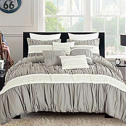 Lokina 6-Piece Queen Comforter Set in Grey