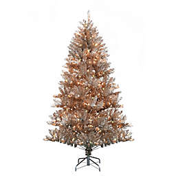 H for Happy™ 6-Foot Pre-Lit Spruce Artificial Hinged Christmas Tree in Rose Gold