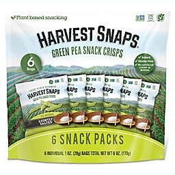 Harvest Snaps 6-Pack Green Pea Snack Crisps Lightly Salted Individual 1 oz. Snack Packs