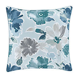 J. by J. Queen New York Mikayla Square Throw Pillow in Blue