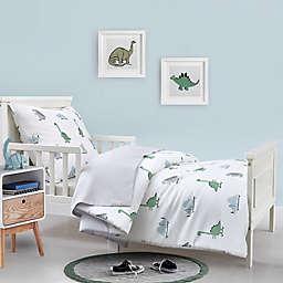 Hello Spud Dinosaur 4-Piece Organic Cotton Toddler Bedding Set