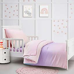 Hello Spud Ombre 4-Piece Organic Cotton Toddler Bedding Set