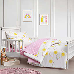 Hello Spud Rainbows and Sunshine 4-Piece Organic Cotton Toddler Bedding Set