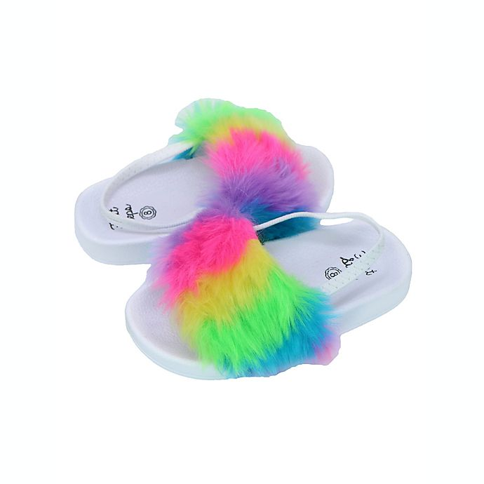 Alternate image 1 for First Steps Bright Rainbow Slide in White