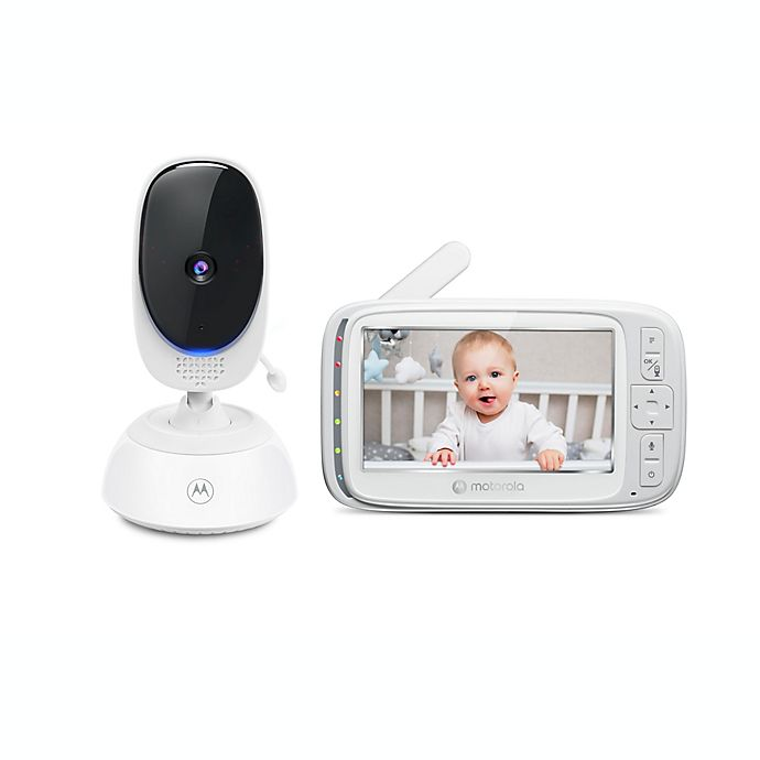 Alternate image 1 for Motorola® VM75 5-Inch Video Baby Monitor with Remote Pan Scan in White