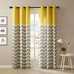 Intelligent Design Alex 63-Inch Grommet Top Window Curtain Panels in Yellow (Set of 2)