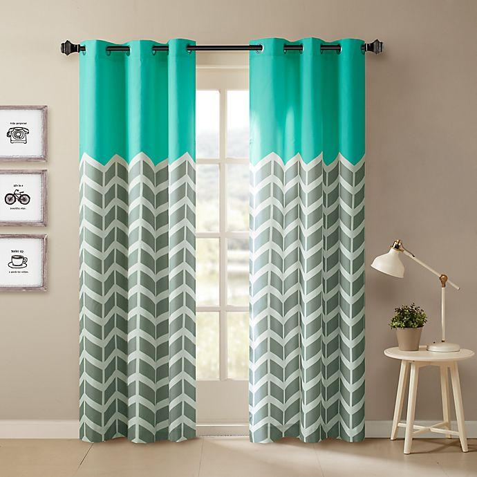 Alternate image 1 for Intelligent Design Alex Room Darkening Grommet Top Window Curtain Panels (Set of 2)