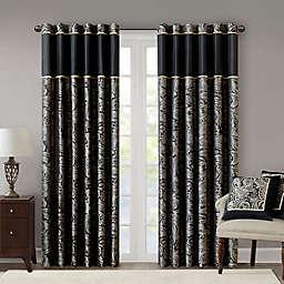 Aubrey 84-Inch Window Curtain Panel in Black (Single)