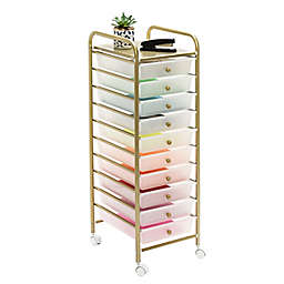 Honey-Can-Do® 10-Drawer Rolling Storage Cart in Gold