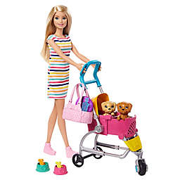 Mattel 11-Piece Barbie® Stroll 'n Play Pups Doll and Accessory Set