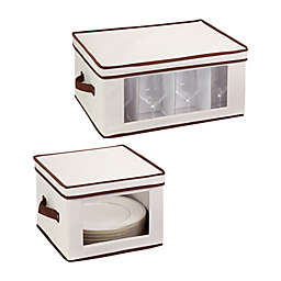 Honey-Can-Do® 2-Pack Closet Window Storage Boxes in Off White