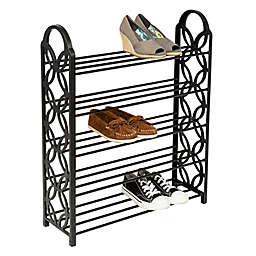 Honey-Can-Do® Butterfly Shoe Rack in Black