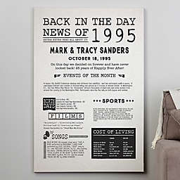 Back In The Day Personalized History Canvas Print