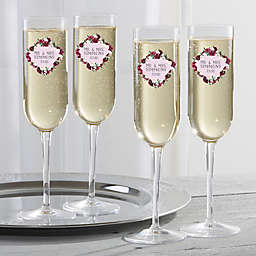 Colorful Floral Champagne Flute