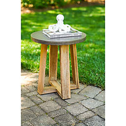 Leisure Made Athens Cement Indoor/Outdoor Side Table in Grey