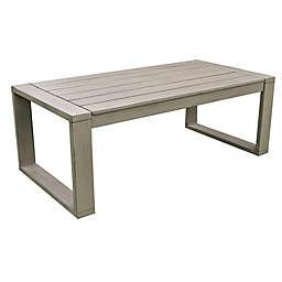 Leisure Made Sumner Acacia Wood Patio Coffee Table in Grey/Brown