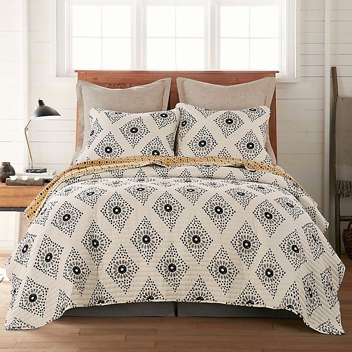 Alternate image 1 for Oden 3-Piece Reversible Quilt Set in Grey/Yellow