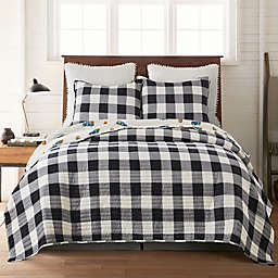 Shelbourne Orchards Twin Reversible Quilt Set in Black