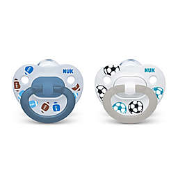 NUK® 2-Pack Sports Boy Orthodontic Pacifiers in Light Blue