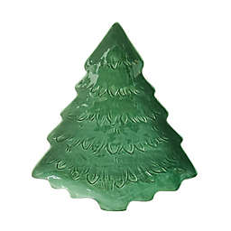 Bee & Willow™ Christmas 15-Inch Tree Serving Platter in Green