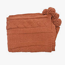 Bee & Willow™ Chenille Cable Knit Throw Blanket in Rose