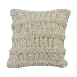 Bee & Willow™ Cozy Faux Fur Stripe Square Throw Pillow