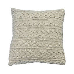 Bee & Willow™ Cable Knit Oblong Throw Pillow in Cream