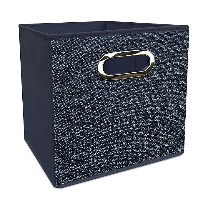 Alternate image 1 for Simply Essential™ 11-Inch Denim Collapsible Bin in Blue