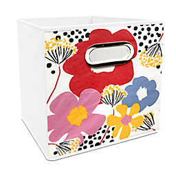 Simply Essential™ 11-Inch English Flower Print Collapsible Bin