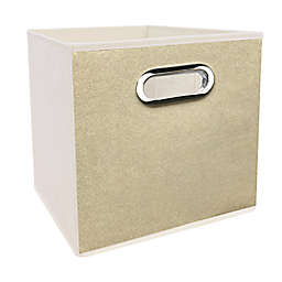 Simply Essential™ 11-Inch Textured Collapsible Bin in Linen