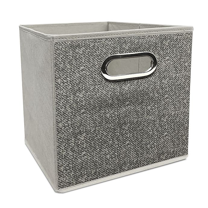 Alternate image 1 for Simply Essential™ 11-Inch Textured Collapsible Bin in Grey