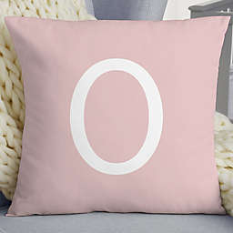 Simple and Sweet Baby Girl 18-Inch Poly Blend Throw Pillow in Pink