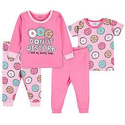 Gerber® 4-Piece Donut Snug Fit Pajamas in Pink
