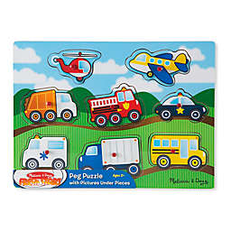 Melissa and Doug® Vehicles 8-Piece Wooden Peg Puzzle