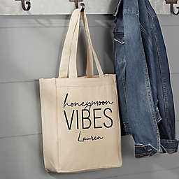 Honeymoon Vibes Personalized Canvas Tote Bag