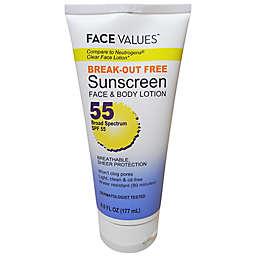 Harmon® Face Values™ 6 oz. Clear Face Sunscreen Cream SPF 55