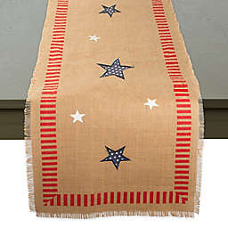 4th of July Jute 108-Inch Table Runner in Red/Multi