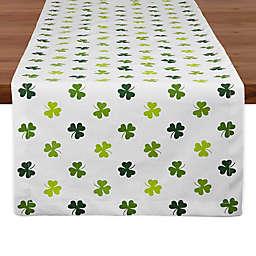 Shamrock Shake Print 108-Inch Table Runner in Green/White