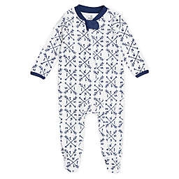 The Honest Company® Compass Organic Cotton Sleep & Play in Blue /White