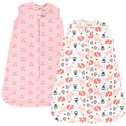 Hudson Baby® Size 18-24M Girl Forest Quilted Wearable Blankets in Pink (Set of 2)