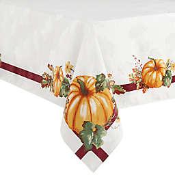 Pumpkin Border Oblong Tablecloth