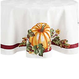 Pumpkin Border 70-Inch Round Tablecloth