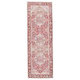 "Jaipur Living Edita 7'6"" Runner in Pink/Blue"