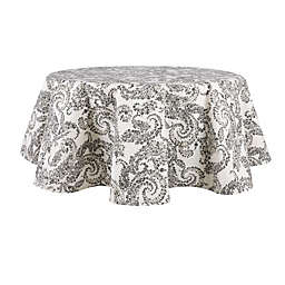 Bee & Willow™ Paisley 70-Inch Round Laminated Tablecloth in Grey