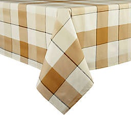 Bee & Willow™ Tonal Check Oblong Laminated Tablecloth in Yellow