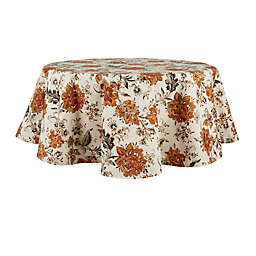 Bee & Willow™ Jacobean 70-Inch Round Laminated Tablecloth in Spice